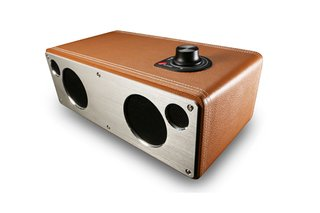 Another head-turning wireless speaker (these were big at CES this year) is the M-Freedom by GGMM. This metal-clad speaker, coated in leather, syncs with GGMM's smartphone application and is compatible with Apple and Android phones. Photo courtesy of GGMM.
