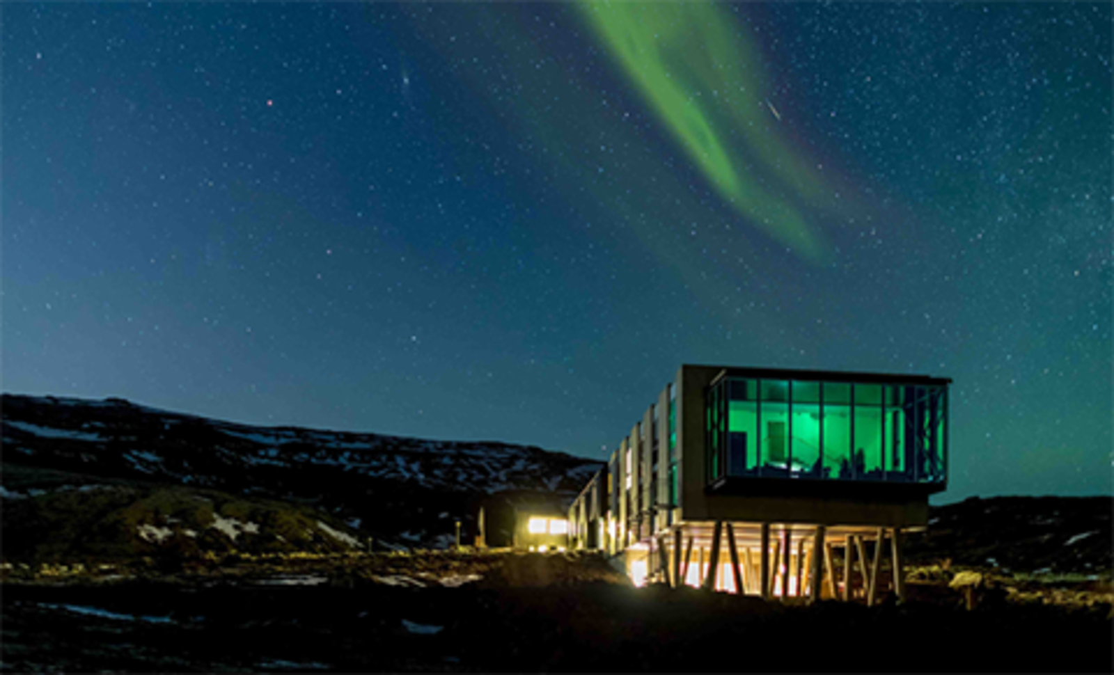 Northern Lights Bar (Iceland) designed by Minarc, nominated in Café/Bar category.  Integrating Nature from AIA|LA Announces Restaurant Design Awards Finalists