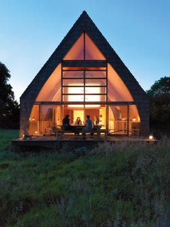 Modern Wooden A-Frame Retreat in France