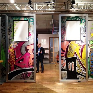 Place Your Bid Here: Sliding Doors with One-of-a-Kind Mural Up for Auction to Benefit Charity