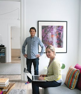 Casper and Lexie Mork-Ulnes in their newly renovated home.