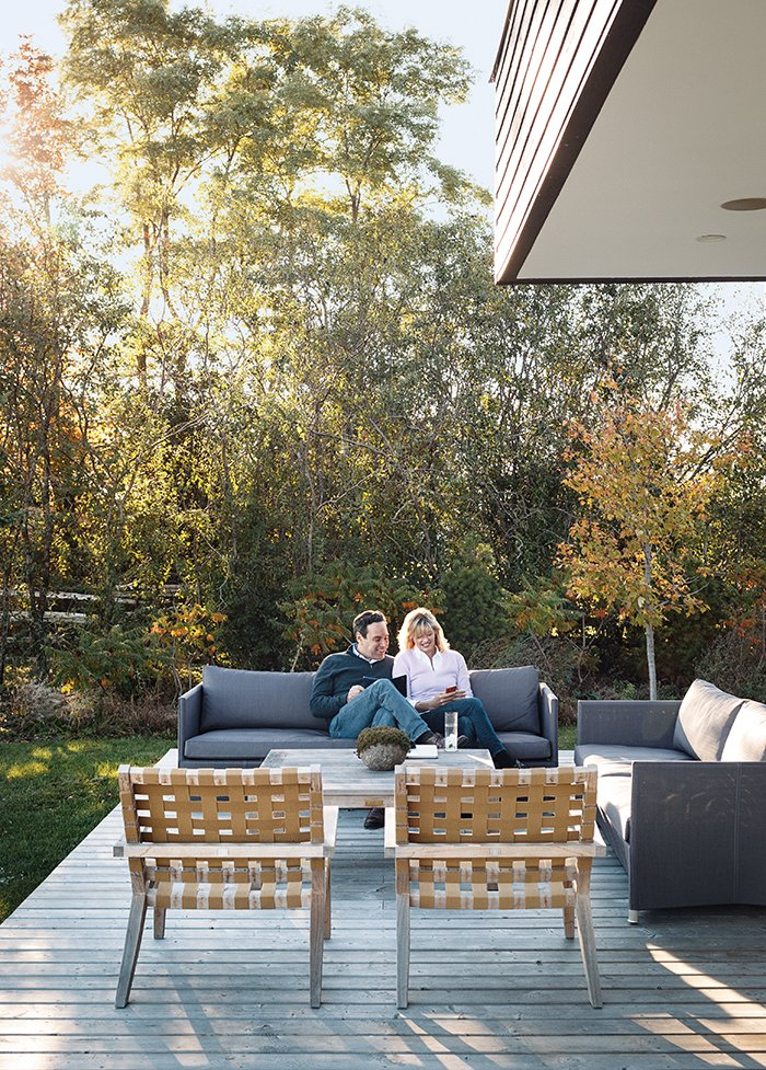 Outdoor, Back Yard, Side Yard, Front Yard, and Wood Patio, Porch, Deck The chairs on the terrace are from the Rusa collection by KAA Design, and the Diamond outdoor sofas are from Cane-line.  Relaxing Terraces by Luke Hopping