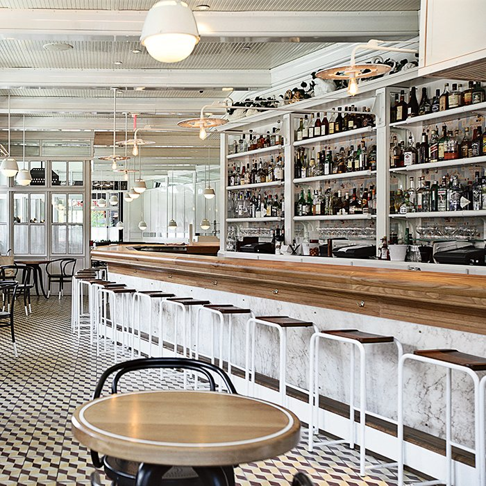 For The Standard Grill in New York City, Roman and Williams designed stools that feature metal legs and wood seats.  Photo 1 of 8 in How to Find the Perfect Modern Bar Stool
