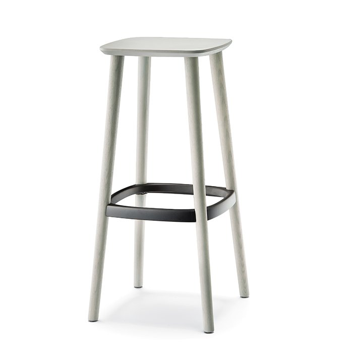 Babila by Odo Fioravanti for Pedrali, $204  A simple silhouette will ensure your bar stools don't overwhelm a room—save the grand gestures for a different piece. Babila is made from FSC-certified ash and features a die-cast aluminum footrest. It is available in a 25.5-inch (shown) or 29.5-inch height. It doesn't have a back, so it's best for short sits. Philosophical debates or four-course meals are for the dinner table. Available from thechairfactory.com.  Photo 3 of 8 in How to Find the Perfect Modern Bar Stool