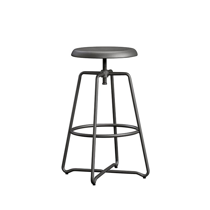 Cannery Bridge counter stool by Sauder, $99  For (slightly) less than a Benjamin, Sauder offers a no-frills, wrought-metal, counter-height stool with an industrial flair. Its base is slightly wider than the seat, which gives it a sturdy feeling. It weighs about ten pounds, making it easy to move around. Rotate the circular seat to adjust its height—it'll go as high as 27.5 inches, just a bit shy of a comfortable bar height.  Photo 4 of 8 in How to Find the Perfect Modern Bar Stool