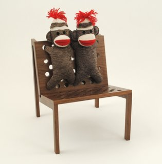 Avanti Kids  This children's chair rivals its adult counterpart by genuine Schylling sock monkey upholstery. $325