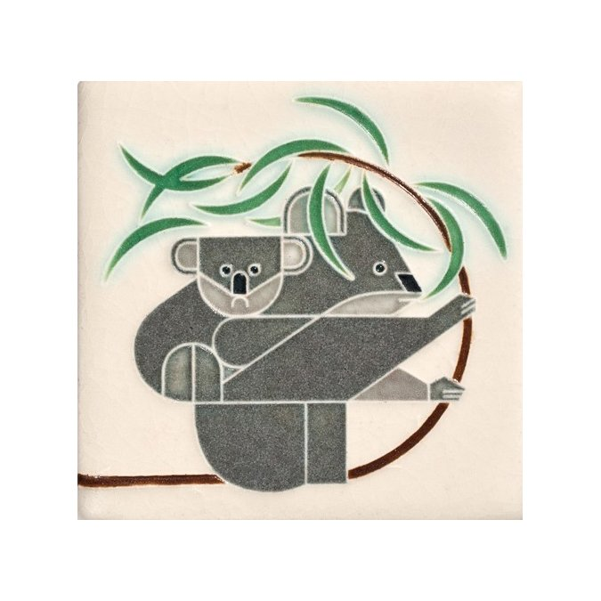 Tree to Tree ($33) by Motawi Tileworks.  Eco-Friendly Tile Designs for Spring by Jacqueline Leahy from Charley Harper Tile by Motawi