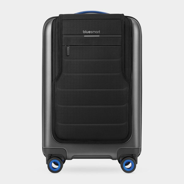 Bluesmart Carry-On Suitcase, $399 ($319.20 for MoMA Members) at momastore.org  This digitally-savvy suitcase comes with a range of features for the global traveler, including realtime GPS tracking of its location, a digital lock that can be opened/secured via smartphone, 2 USB chargers with enough capacity to charge six iPhones, the ability to weigh itself, and more. It's available for purchase online or you can check with the MoMA Stores in New York City's midtown and SoHo for in-store availability.