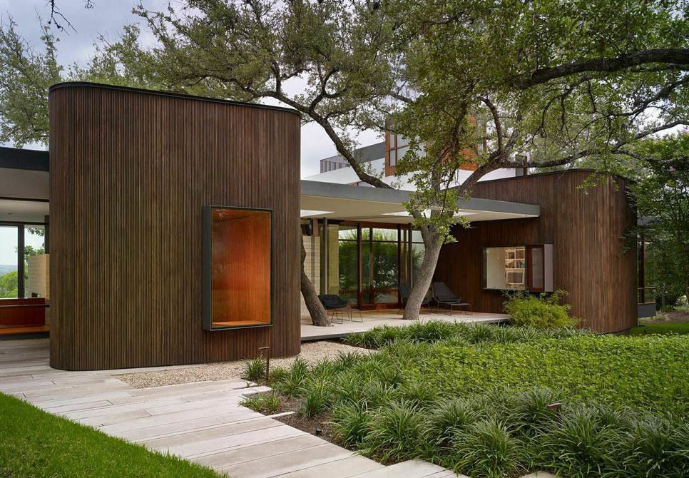 Exterior, House Building Type, and Wood Siding Material Alterstudio Architecture of Austin designed this house in the Texas capital for a young family of four.  Photo 1 of 7 in A Sensitive Modern House in Austin, Texas