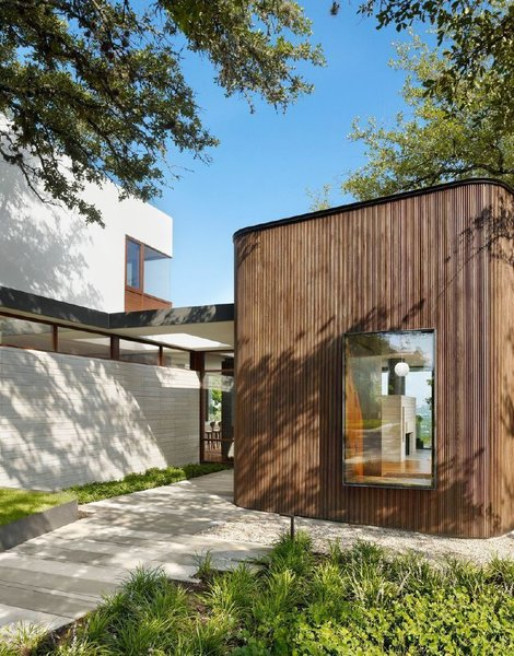 In consultation with the clients, Alterstudio opted to clad the house in local cypress rather than imported, FSC-certified ipe.