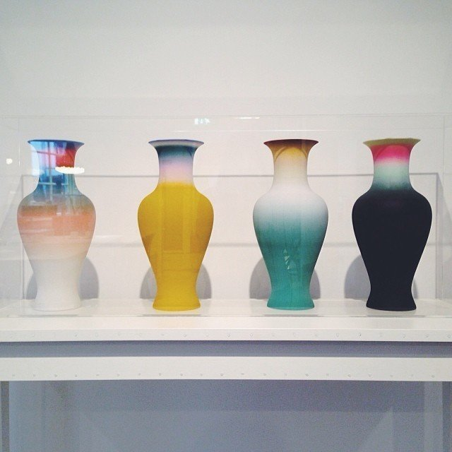 3D printed vases at Hôtel Droog.  Design Guide to Amsterdam by Kelsey Keith