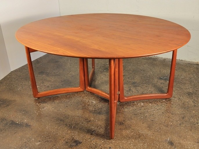"""Peter Hvidt drop-leaf table: """"One of my favorite pieces in the shop. The wood selection is amazing. The design solution for the drop-leaf function is pure elegance."""" $4,500 at Open Air Modern  Photo 5 of 11 in Must-Have Collectors Items at Brooklyn's Open Air Modern"""