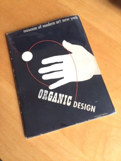 """MoMA Organic Design: """"The historical 1941 exhibit this book catalogs predates the LCW [editor's note: the Eames Lounge Chair Wood]! It also shows a collaboration between the Eameses and Eero Saarinen and the roots of their future work. Scarce.""""  Photo 6 of 11 in Must-Have Collectors Items at Brooklyn's Open Air Modern"""