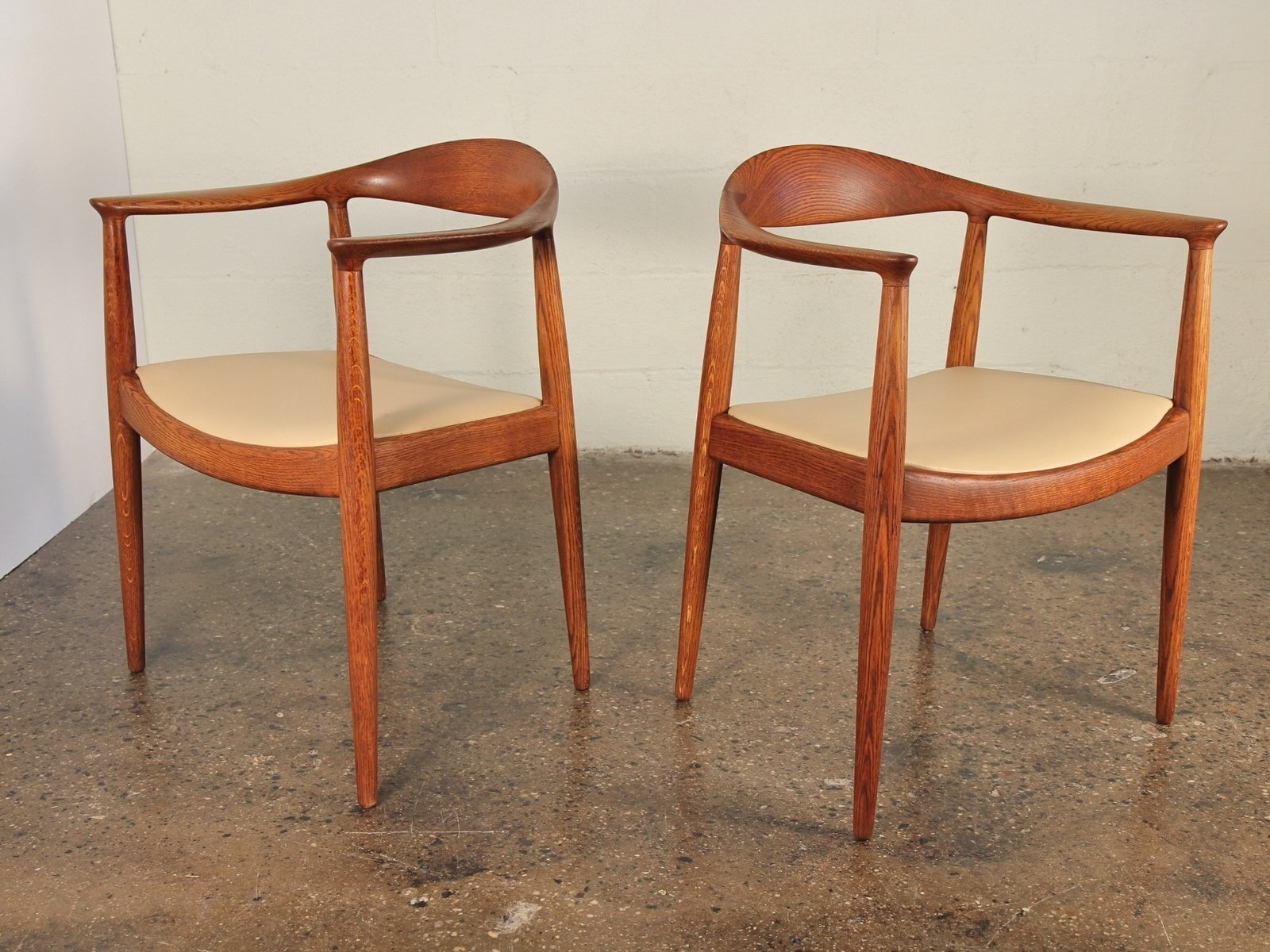 """Pair of round chairs by Hans Wegner: """"Proportionally perfect! And with a generous seat platform for comfort. You don't just sit in this chair, you have a sensuous seating experience."""" $6,800 for a pair at Open Air Modern  Photo 7 of 11 in Must-Have Collectors Items at Brooklyn's Open Air Modern"""
