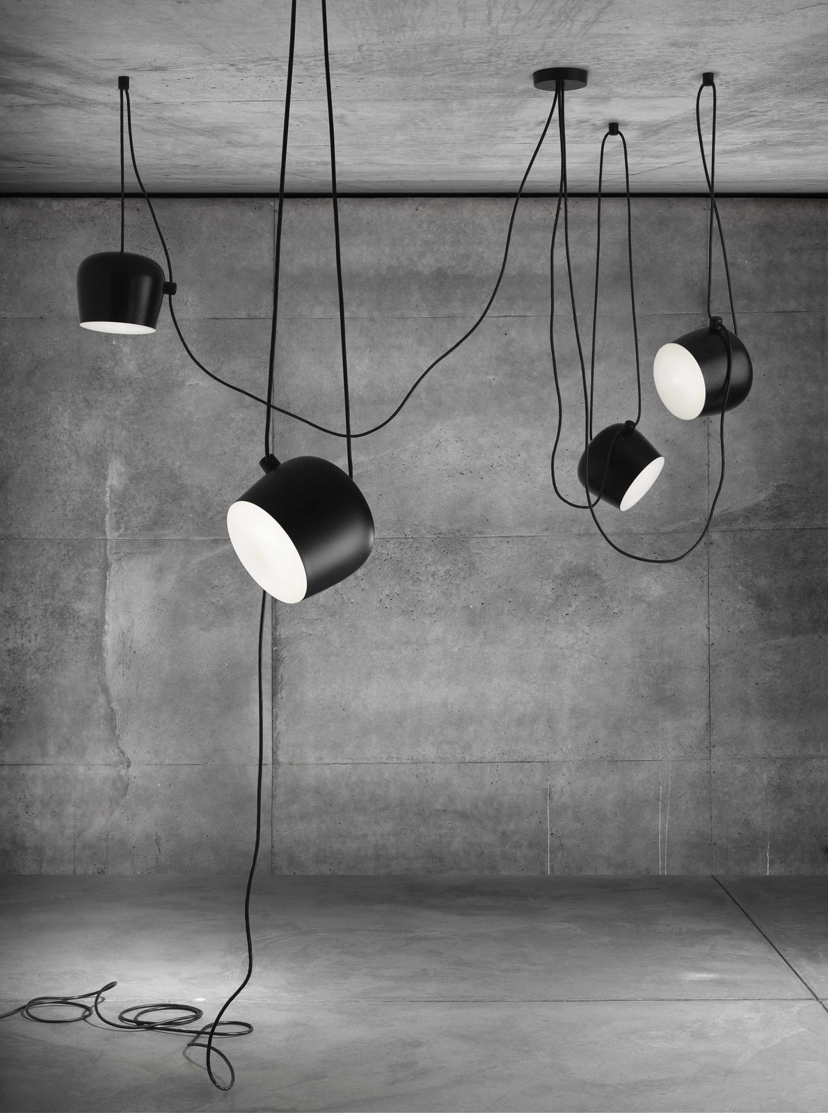 The AIM lamps' power cables double as a tactile, decorative element. Photo courtesy of Flos.  Photo 2 of 6 in Jan Vingerhoets of Flos on the Future of Lighting Design