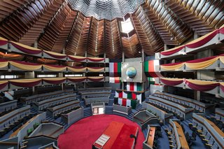 Kenyatta International Conference Centre. 1967-1973. Designed by Karl Henrik Nostvik. Nairobi, Kenya.