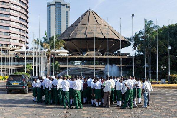 Kenyatta International Conference Centre. 1967-1973. Designed by Karl Henrik Nostvik. Nairobi, Kenya.