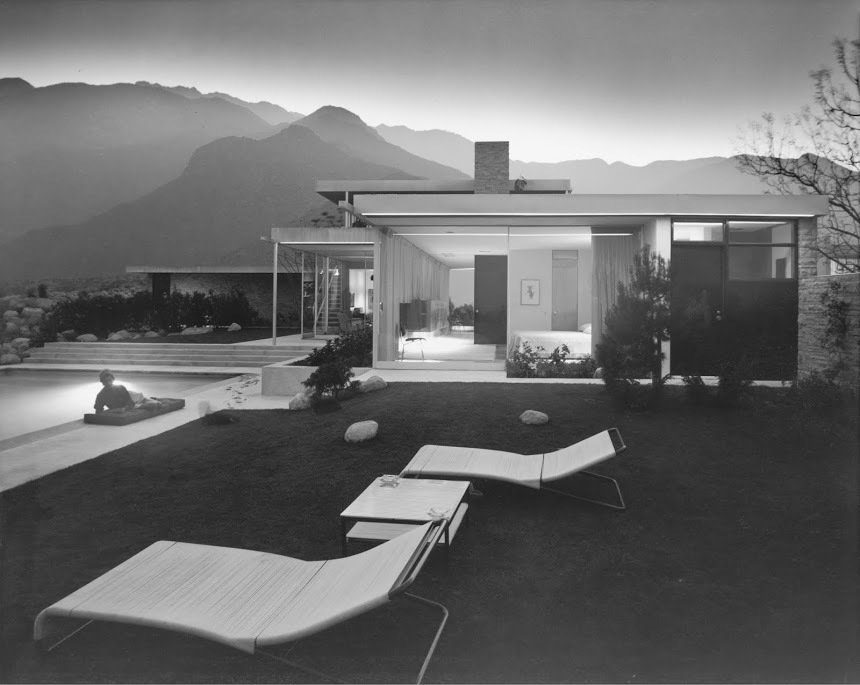 The Kaufman Residence by Richard Neutra, Palm Springs, 1946. Photo courtesy of the Julius Sherman Photography Archive, Getty Research Institute, Los Angeles.  Mid century modern from Exhibit Brings Midcentury California Design to Massachusetts