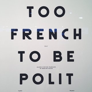 We spotted this poster from French furniture brand Polit at Maison & Object 2014. 39 euro. Buy it here.