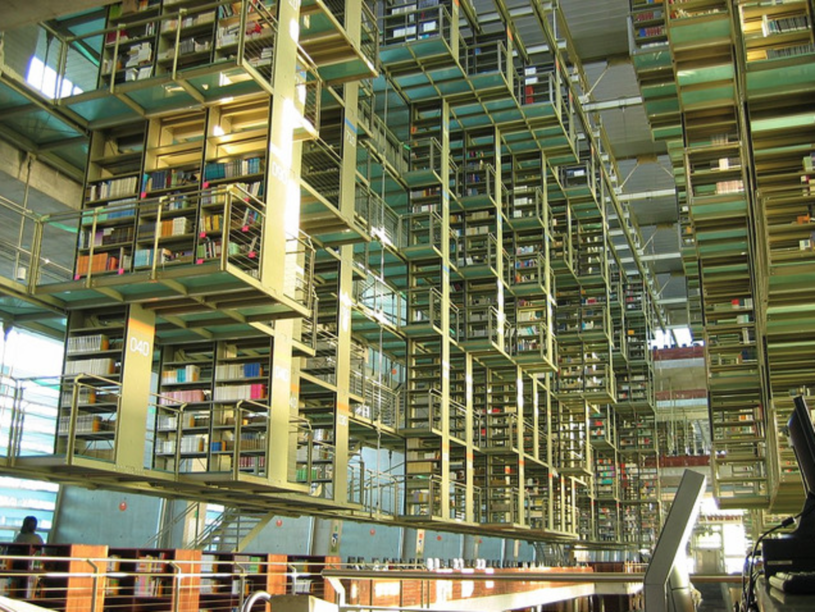"""Biblioteca Vasconcelos   """"When President Vicente Fox inaugurated the library on May 16, 2006, he described it as one of the most advanced constructions of the 21st century, and said it would be spoken of throughout the world. Even thought the library was plagued by many construction defects that forced its closure in March 2007, it is now fully operational and its main hall is one of the most powerful architectural spaces recently built in Mexico City.""""  Photo 3 of 7 in City Guide: 10 Places to Visit in Mexico City"""