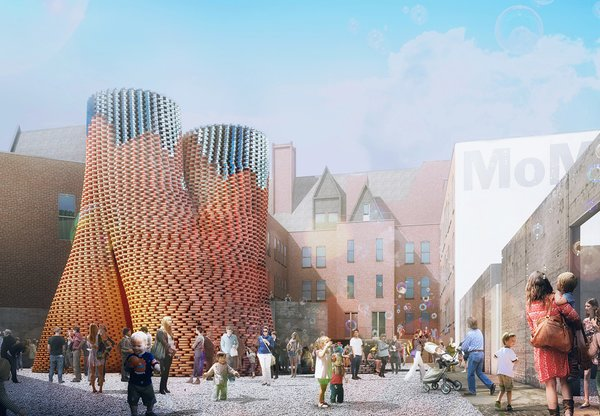 New York architecture firm The Living, led by David Benjamin, won this year's competitive MoMA/PS1 Young Architects Program competition. The firm will build its project Hy-Fi using biological technologies that create new building materials in a familiar shape: the brick.
