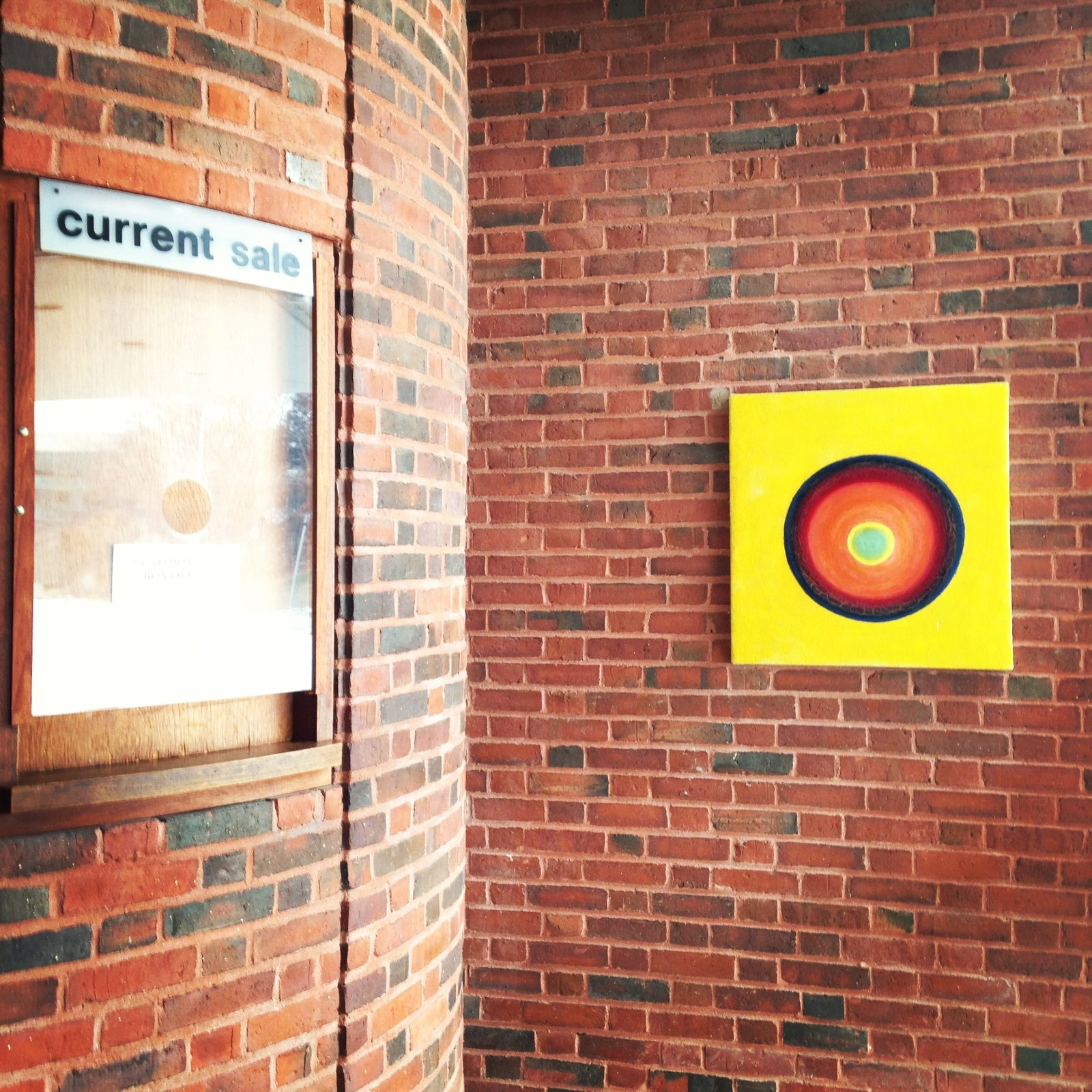 The circular ticket booth, set just inside the front entrance. Most of the 1950s-era campus buildings are brick, with the art museum and chapels set apart with lighter cladding. Photo by Alexandra Lange.  Photo 13 of 14 in Architecture Tour: Brandeis Modern