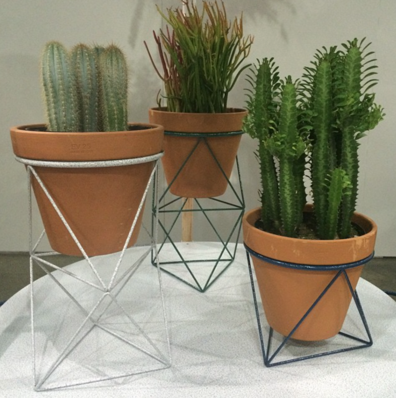 Octahedron planters by @etrine in an exclusive hammertone finish for the @dwell_store.