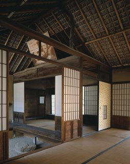 The sprawling 16-acre Katsura Imperial Villa was commissioned in the 17th Century by a pair of father-son princes, and attributed to a cadre of craftsmen and consultants. Though its rich architectural language—a polychrome of woods, wallpapers, decorative plasterwork, and swooping roofs—is more resplendent than restrained, its geometric sensibility and modular construction easily aligned with the ideals of 20th-century modernists.