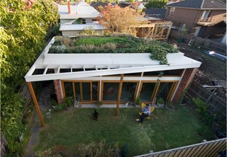 An Australian Architect's Simple Brick House With Impressive Green Roof