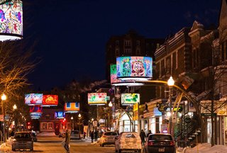 An LED Light Display Takes Over an Avenue in Quebec City