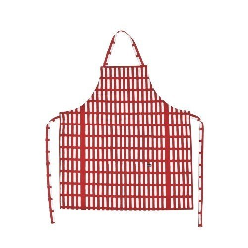 The Siena Apron draws from the iconic textile pattern designed by Alvar Aalto for Artek in 1954. The bold and graphic red and white pattern adds playful charm to the kitchen of both the modern and traditional chef. The Artek Siena series was inspired by lively family meals in Siena, Italy, and includes placemats to create a cohesive kitchen.  The Siena series of textiles is currently on sale for 15% off at the Dwell Store until 10/25/2016.