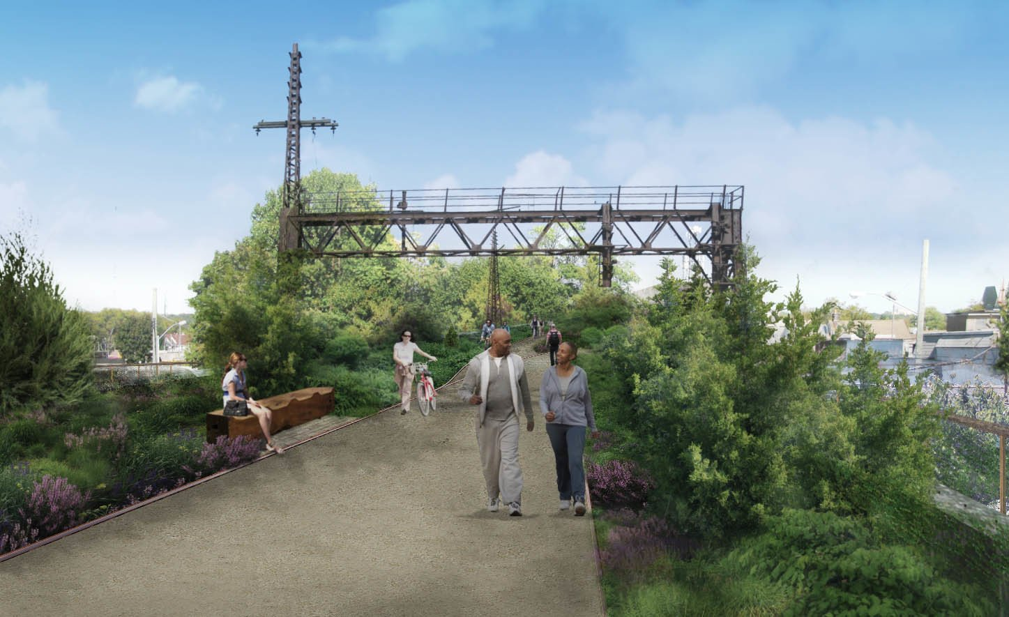 The viaduct between Atlantic and Liberty avenues in Ozone Park will feature new walkways, seating areas, and a bike bath.  Photo 3 of 6 in A Vision for Queens' Version of the High Line