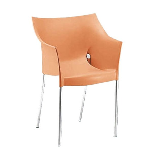 Dr. No Chair -- Kartell (1996)  Starck recast the club chair with this playful design, a wrap-around of colorful, injection-molded plastic.
