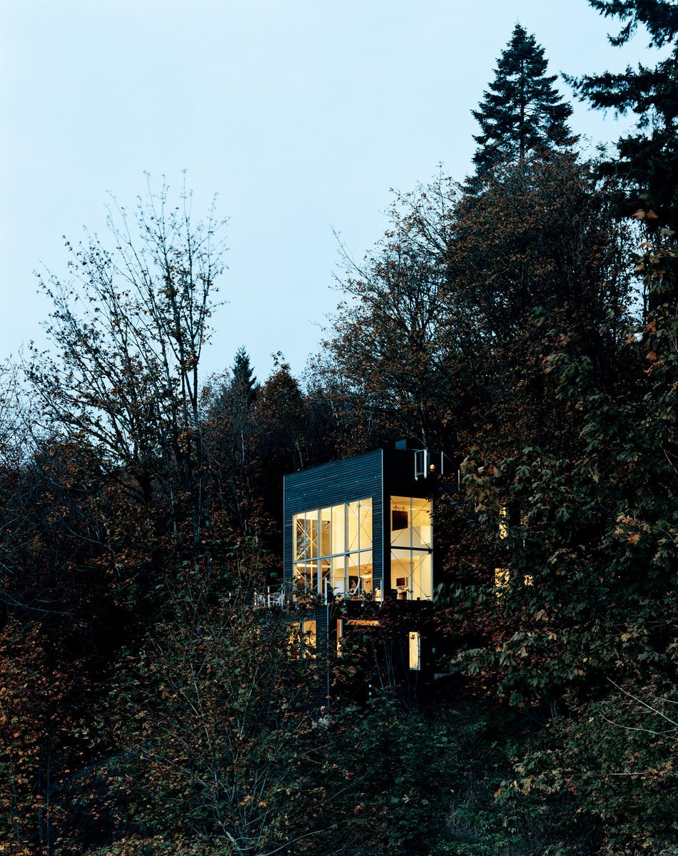 Uninspired by the loft options in downtown Portland, Oregon, the Andréns opted to design and build their own freestanding version in the hills just minutes from the city. Read more about this sleek three-story loft here.  Cabins & Hideouts from Scenic Autumn Retreats