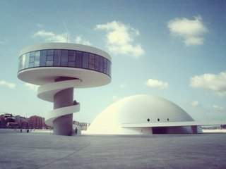 Made after the legendary architect hit the century mark, the Niemeyer center exhibits more playfulness than projects made by designers half his age. Subtle, bold flashes of color, and contrasting shapes create a cultural playground and gathering space.