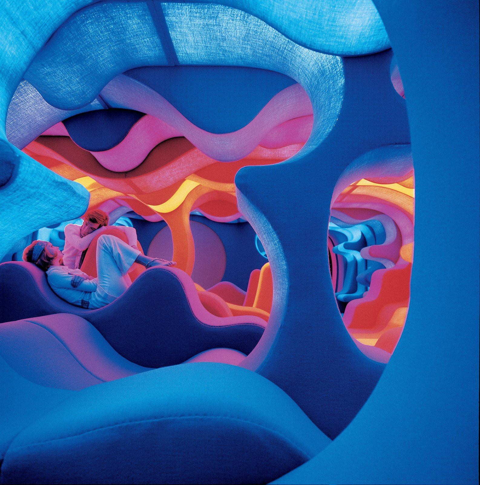 "Another angle of the ""Phantasy Landscape."" © Panton Design, Basel  All the ""Right"" Angles from Verner Panton's Visiona 1970"