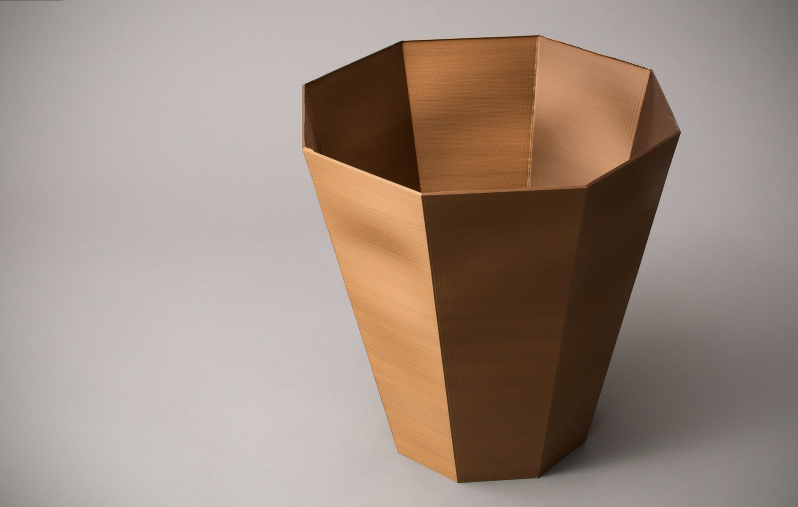 A solid bucket created with the BigRep Printer.  Photo 6 of 6 in Want the Perfect Chair? Print It