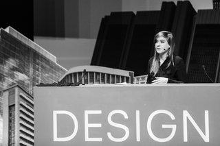 Teshia Treuhaft addresses the Design Indaba conference in Cape Town on February 26. Photo courtesy of Design Indaba.
