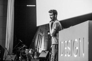 Dave Hakkens onstge at Design Indaba. Image courtesy of Design Indaba.