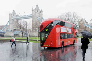 "London's New BusThere's arguably no better view of London than the one from the front of one of its double-decker buses. Heatherwick took on a redesign of London's iconic transportation by looking at them as ""two-story buildings on wheels,"" as evidenced by the curved glass that follows the movement of people. He wanted passengers to ""feel the theater, the splendor of moving around one of the incredible cities of the world,"" and so attended to details like reinventing bench seats and giving a little more love to the staircase, while also striving to reduce energy costs by 40 percent. Some 200 new buses are already on the streets.  Photo by: Iwan Baan"