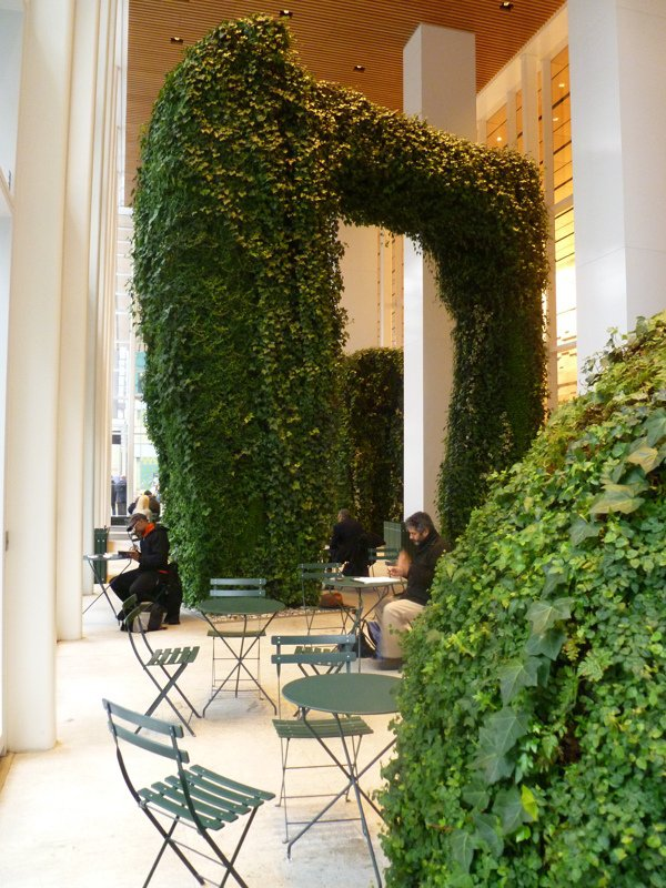 "Urban Garden for Durst Organization, Bank of America building, New York, NY, 2010. Landscape design: Margie Ruddick with WRT. Artist: Dorothy Ruddick. Design architecture: Cook + Fox Architects; Architect of record: Adamson. Fabricator: Mosaiculture Internationale de Montréal. Photo: Sam Oberlander  Photo 4 of 5 in ""Born to Rewild"" with Landscape Designer Margie Ruddick"