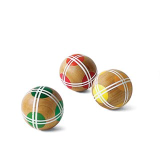 Bocce by Fredericks & Mae, $320   Bocce, a lawn game whose lineage can be traced to the Roman Empire, is modernized with this hand-painted set by a Brooklyn studio.
