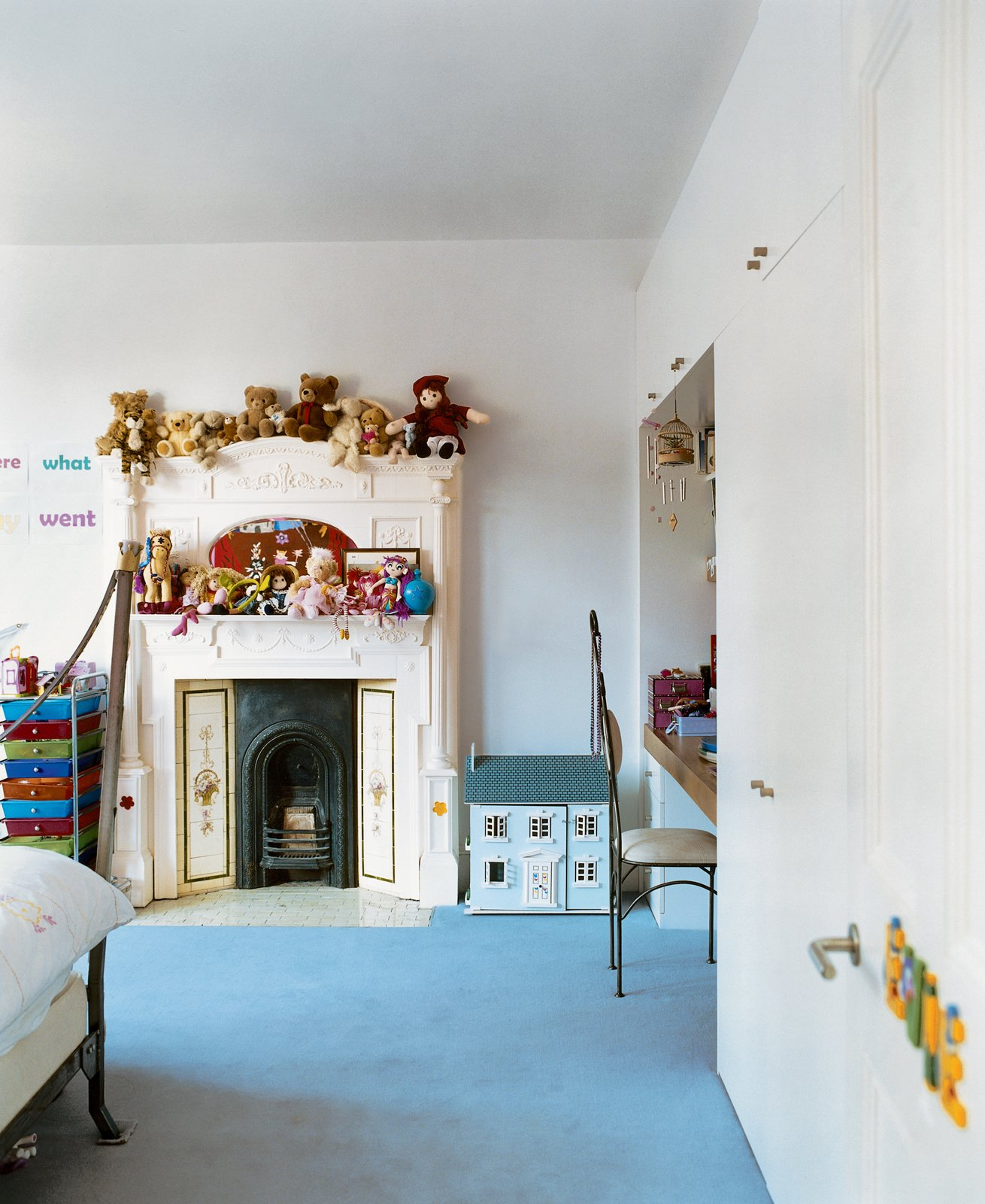 """The kids' rooms were designed to let the littlest Brenners express their own tastes. """"When designing you need to accommodate lots of functions, from piano lessons to just hanging out,"""" says Phillips. """"A house should have all the elements that allow you to relax.""""  Photo 4 of 10 in Victorian Secrets"""