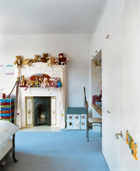 """The kids' rooms were designed to let the littlest Brenners express their own tastes. """"When designing you need to accommodate lots of functions, from piano lessons to just hanging out,"""" says Phillips. """"A house should have all the elements that allow you to relax."""""""
