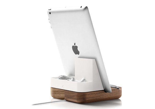 Most desk sets have trays for writing implements and coordinating staplers, rulers, scissors, and items for the paper world. The Evernote line is tailored to the electronic world. The tablet stand ($50), for example, boasts a niche for hearphones, a rest for a stylus, and a channel through which to funnel a charger.  The Modern Desk Accessories You Need to Own by Diana Budds