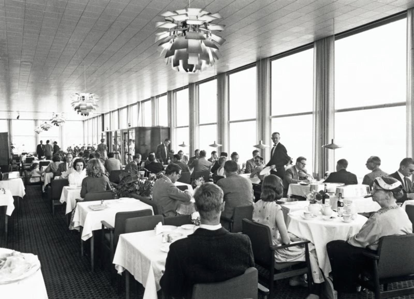The Langelinie Pavilion in 1958 with the newly installed PH Artichokes.  Photo 2 of 7 in The Lighting Fixture That Inspired A High-Stakes Heist: The PH Artichoke