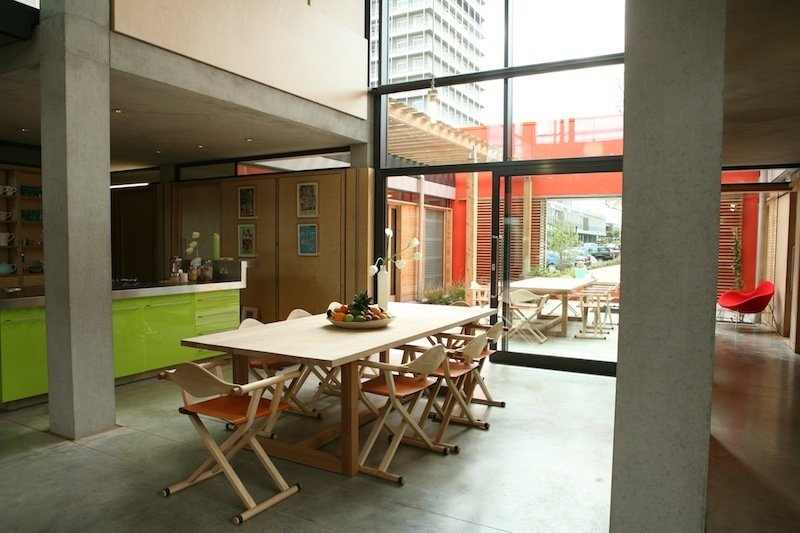West London kitchen. Architect: Sir Richard Rogers, Rogers Stirk Harbour + Partners. © Maggie's Centres.  Photo 10 of 14 in Maggie's Centres: A Blueprint for Cancer Care