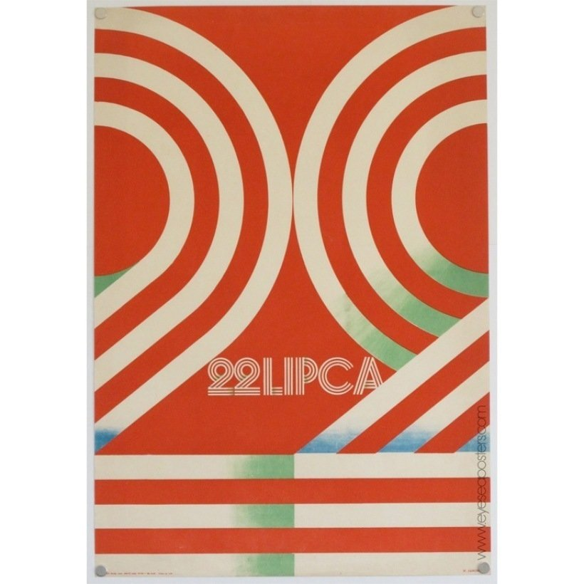 22 Lipca, original Polish poster by Janowski c. 1973  Photo 4 of 10 in 10 Posters from Poland's Golden Age of Graphic Design