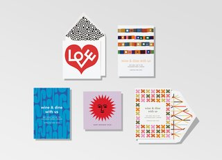 Paperless Post and Girard Studio have teamed up to create Alexander Girard for Paperless Post, a collection of print and digital greeting cards featuring many of the midcentury designer's most iconic patterns and motifs. The instantly recognizable symbols communicate great sentiment with little or no text, making them a natural fit for the medium.