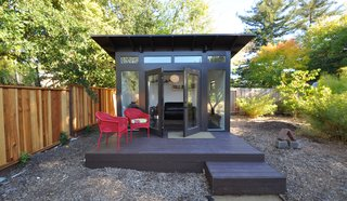 Each shed is customizable via a recently launched interactive online tool and range from $120-150 per square foot. With more people working from home, backyard offices offer a physical barrier between life and work, this one in Walnut Creek, California, has a FullLite glass front elevation.